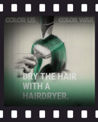 COLOR WAX - Instructions: long hair - 4